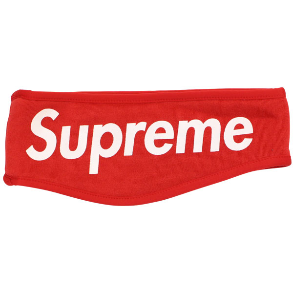 SUPREME FLEECE HEADBAND RED