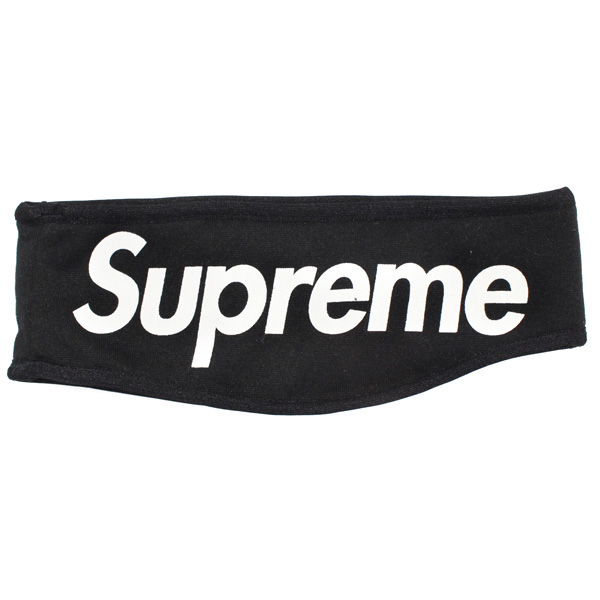 SUPREME FLEECE HEADBAND BLACK
