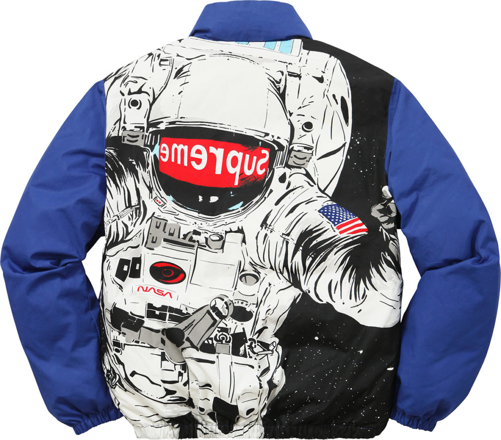 SUPREME ASTRONAUT PUFFY JACKET BLUE