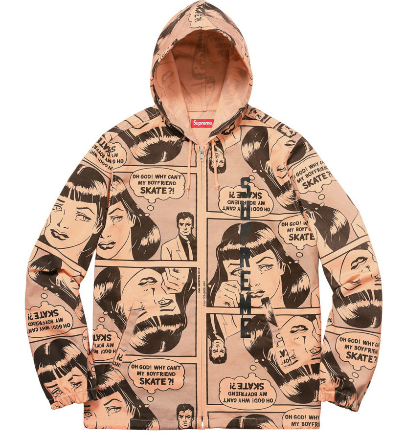 SUPREME X THRASHER HOODED ZIP UP JACKET ORANGE