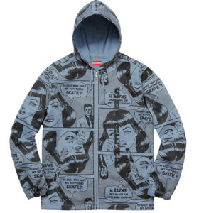 SUPREME X THRASHER HOODED ZIP UP JACKET BLUE