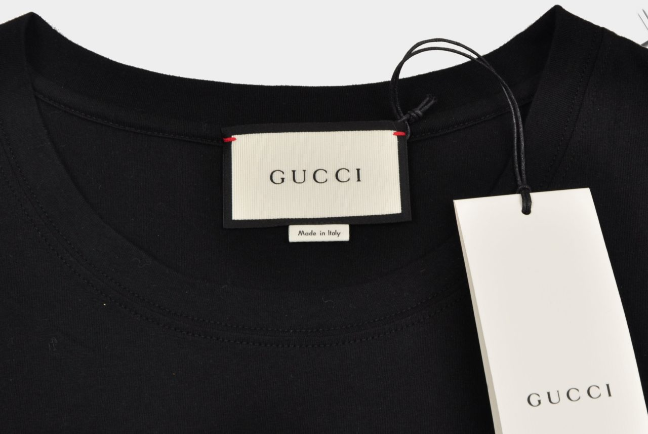 GUCCI LOGO WASHED TEE BLACK