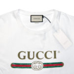 GUCCI LOGO COTTON TEE WHITE