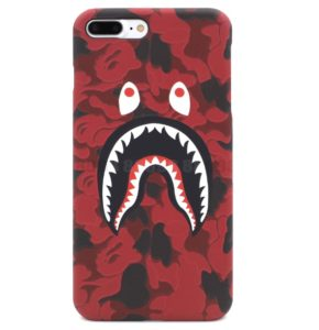 BAPE CAMO SHARK IPHONE CASE RED