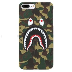 BAPE CAMO SHARK IPHONE CASE GREEN