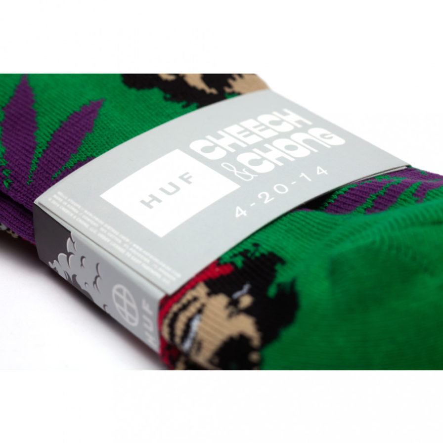 HUF X CHEECH & CHONG 420 PACK GREEN