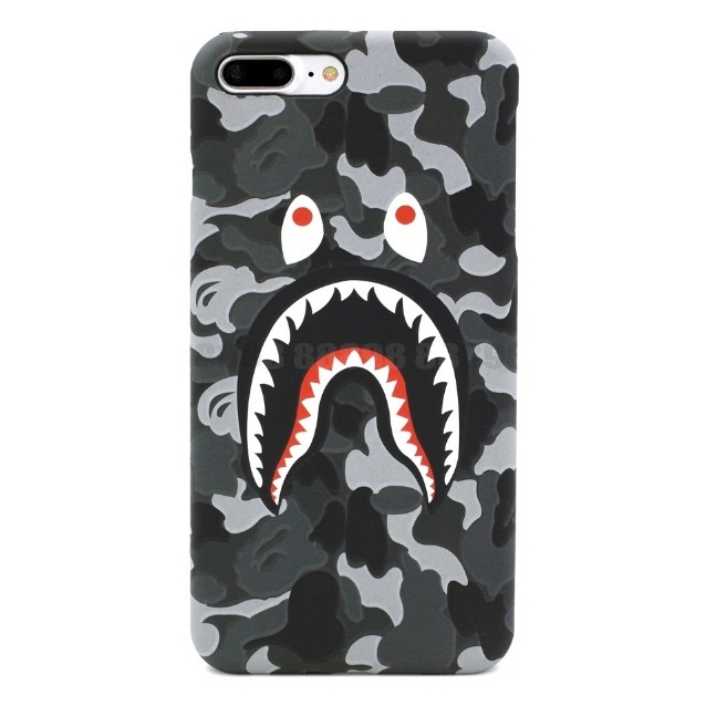 BAPE CAMO SHARK IPHONE CASE GREY