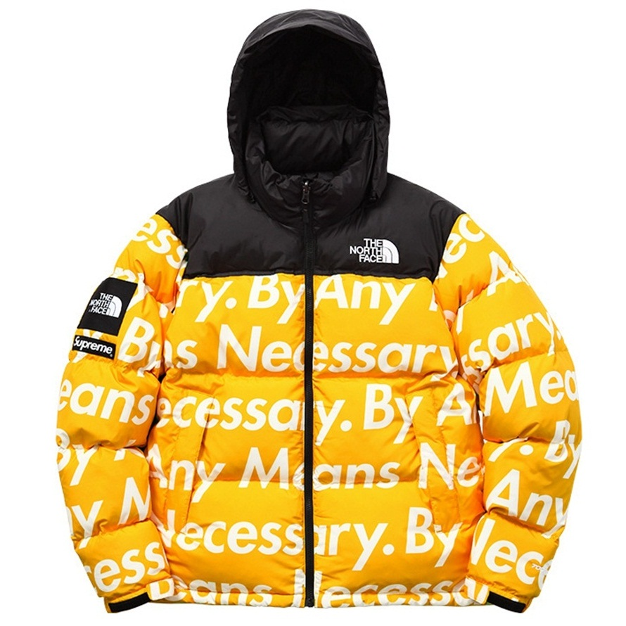 THE NORTH FACE X SUPREME NUPTSE JACKET YELLOW