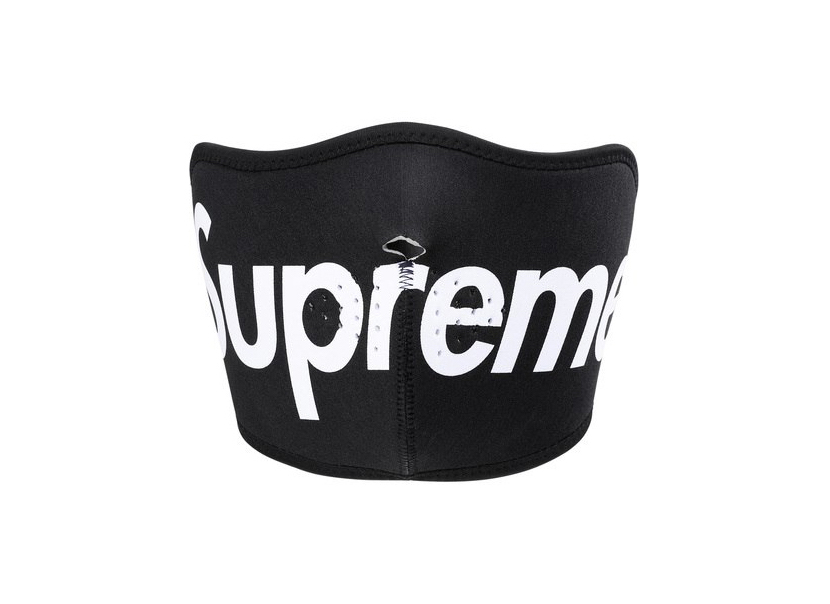 SUPREME NEOPRENE FACE MASK BLACK
