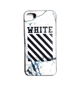 OFF WHITE LOGO IPHONE CASE WHITE