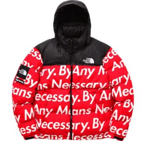 THE NORTH FACE X SUPREME NUPTSE JACKET RED