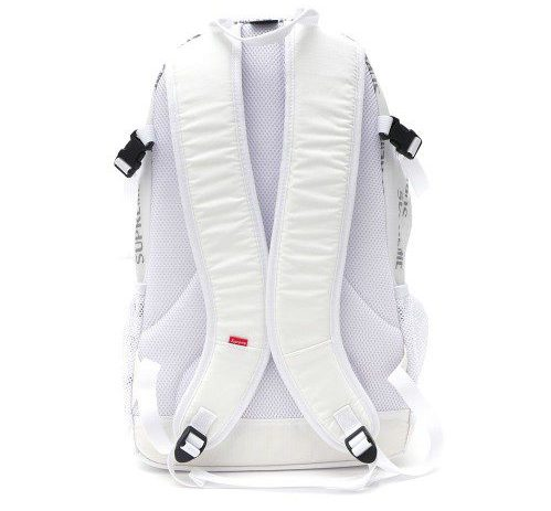 SUPREME REFLECTIVE REPEAT BACKPACK WHITE