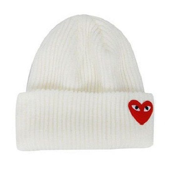 COMME DES GARCONS PLAY BEANIE WHITE