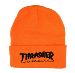 THRASHER SMALL LOGO BEANIE ORANGE