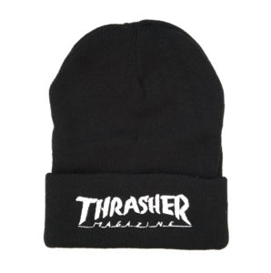 THRASHER SMALL LOGO BEANIE BLACK