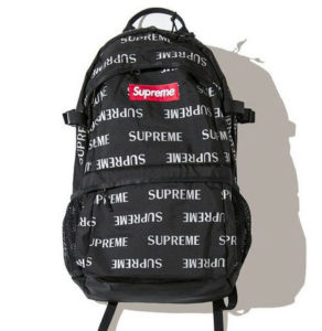 SUPREME REFLECTIVE REPEAT BACKPACK BLACK