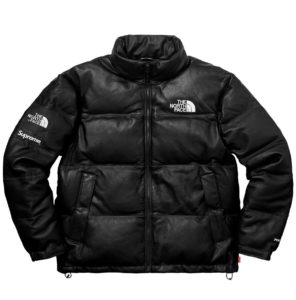 THE NORTH FACE X SUPREME LEATHER NUPTSE JACKET BLACK