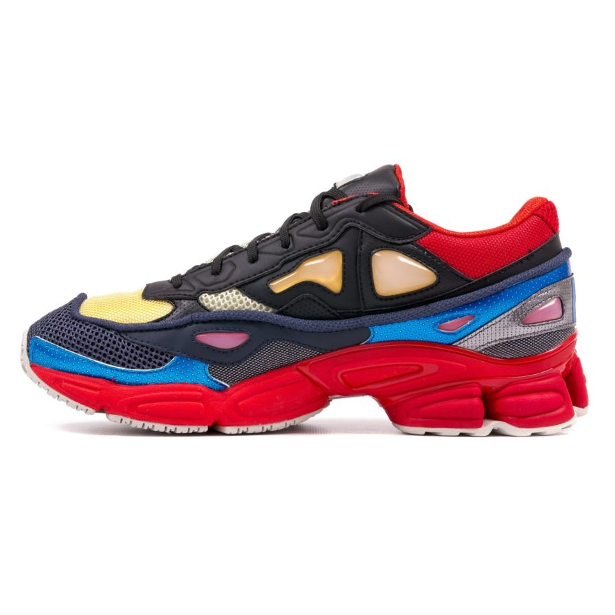 RAF SIMONS OZWEEGO II BLACK RED