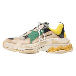 BALENCIAGA TRIPLE S GREEN YELLOW