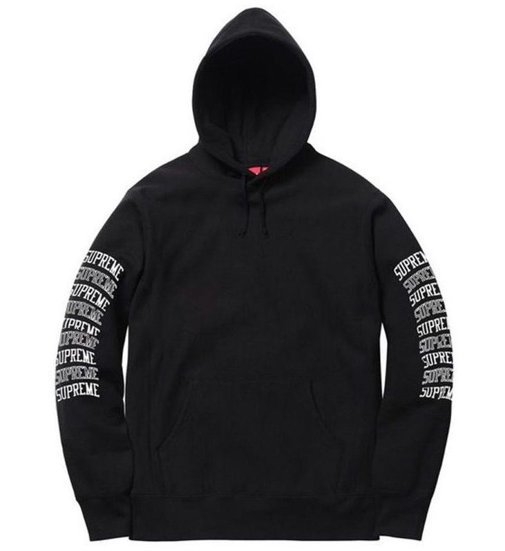 SUPREME SLEEVE ARC HOODED SWEATSHIRT BLACK