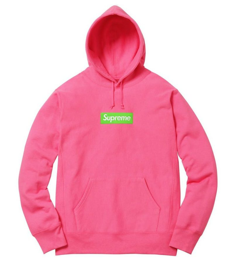 SUPREME BOX LOGO HOODED SWEATSHIRT MAGENTA