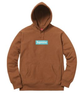SUPREME BOX LOGO HOODED SWEATSHIRT BROWN