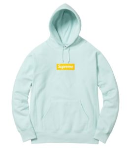 SUPREME BOX LOGO HOODED SWEATSHIRT ICE BLUE