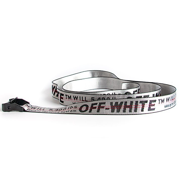 OFF WHITE BELT SILVER